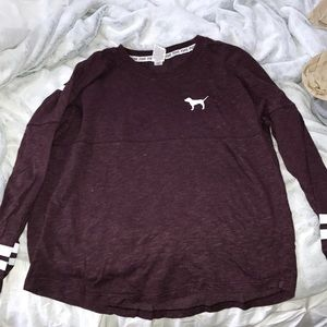 Burgundy red colored pink long sleeve